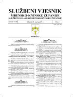 01/11 - Šibensko-kninska županija