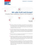 Mit voller Kraft nach Europa? : verspätete Regierungsbildung in