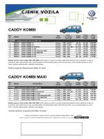 Caddy Maxi - VW Gospodarska vozila