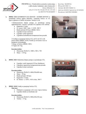 1. IBMG 1221 KOMBINOVANI SISTEM