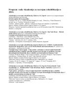 Program rada Akademije za razvojnu rehabilitaciju u 2014.