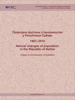 Природно кретање становништва у Републици Србији 1961