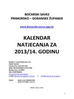 kalendar natjecanja sezona 2013-14