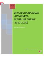 STRATEGIJA RAZVOJA ŠUMARSTVA REPUBLIKE SRPSKE (2010