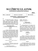 SLUŽBENI GLASNIK - Koprivničko