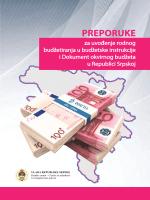 препоруке за увођење родног буџетирања у буџетске