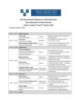Schedule / Raspored izlaganja