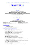 DDD i ZUPP `11 - program