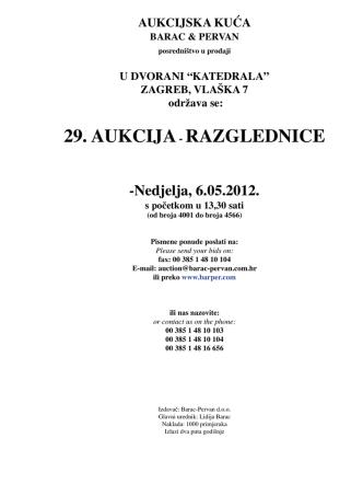 29. AUKCIJA- RAZGLEDNICE - Barac & Pervan aukcijska kuća
