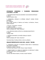 ORAL : - hrvatski institut za duhovnu psihijatriju