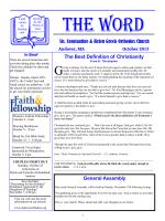 October 2013 newsletter - Sts. Constantine and Helen Greek