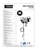 GSZ 300/600 - Nářadí