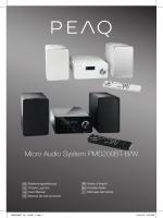 Micro Audio System PMS200BT-B/W