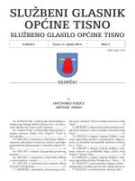 Službeni glasnik Općine Tisno / 2014 / Broj 5