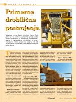 Primarna drobilična postrojenja Primarna drobilična postrojenja