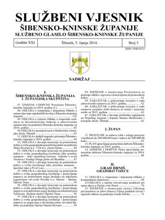 05/14 - Šibensko-kninska županija