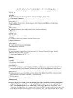 Veslači i veslačice izbornih vrsta za slijedeće aktivnosti, 1. kruga