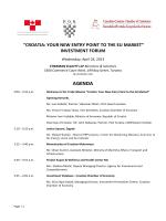 Investment Forum Agenda