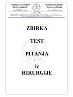 ZBIRKA TEST PITANJA iz HIRURGIJE
