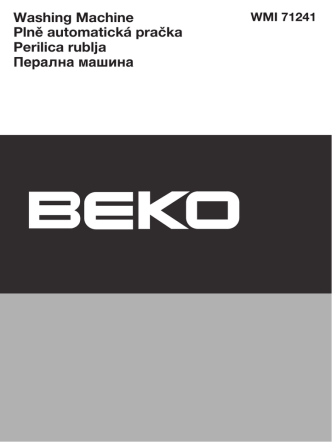 BEKO WMI 71241 User Manual Pdf