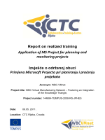 Report on realized training Application of MS Project - WBC
