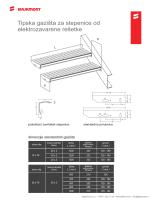 Tipska gazišta za stepenice od elektrozavarene rešetke