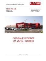 godišnji izvještaj 2010