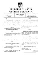 """""""Službeni glasnik opštine Derventa"""", broj: 13/10"""