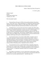 Pismo namjere, 11 rujan 2012