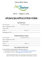 Formular za prijavu