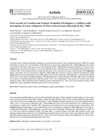 First records of Croatian and Serbian Tetrigidae
