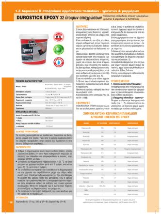 1.3 Ακρυλικοί & εποξειδικοί αρμόστοκοι πλακιδίων