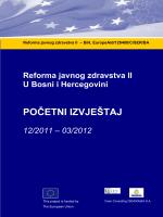 POČETNI IZVJEŠTAJ - Public health reform II