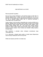 KJKP Vodovod i kanalizacija d.o.o Sarajevo OBAVJEŠTENJE ZA