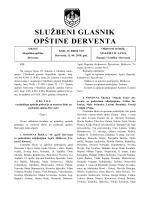 """""""Službeni glasnik opštine Derventa"""", broj: 7/10"""
