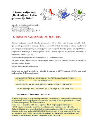 2-Dani odjeće 2014. - Strukovna škola Varaždin
