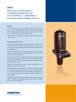 apa strujni epoksidni transformator za unutarnju ugradnju