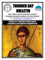 thunder bay bulletin - the Holy Trinity Greek Orthodox Community of