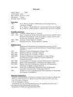 zivotopis: opci podaci, podaci o skolovanju, stecena sprema i