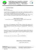 Obavještenje o konačnom dnevnom redu za XVII Redovnu sjednicu