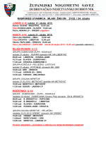 RASPORED UTAKMICA MLADI ŽNS DN 21/22. i 24. ožujka MLAĐI