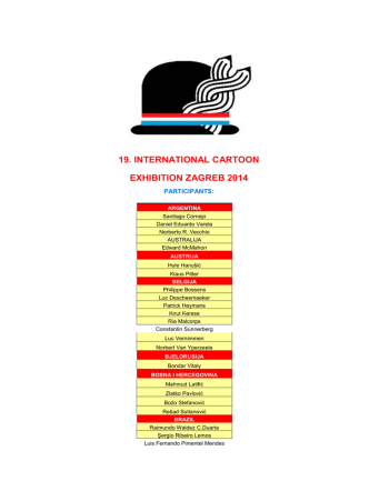 19. international cartoon exhibition zagreb 2014