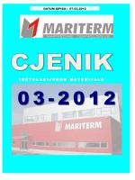 Cjenik MARITERM OŽUJAK 2012 MISTRAL