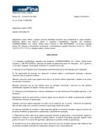 Zaključak o zakazivanju ročišta 4.10.2013.