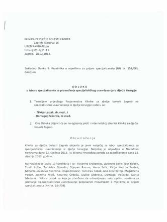01-7/11-13. Zagreb, 28.02.2013. Sukladno članku 9