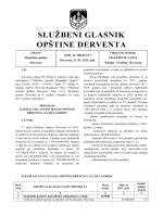 """""""Službeni glasnik opštine Derventa"""", broj : 5/13"""