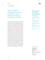 Volumetric analysis of cerebrospinal fluid and brain parenchyma in