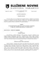 (1) tačka b) Ustava Kantona Sarajevo