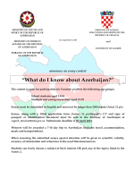 """What do I know about Azerbaijan?"""