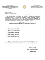 Odluka o odabiru kandidata za upošljavanje na poziciju Policajac SPJ